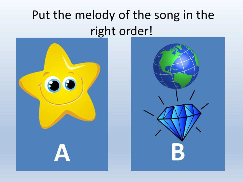 Put the melody of the song in the right order! Α Β