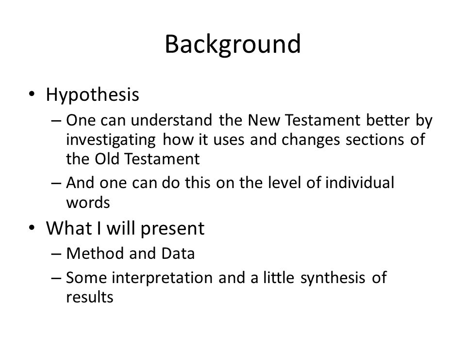 Theoretical Basis I Daniel Boyarin – Theological – Rabbis recombined biblical passages, recontextualizing them into new narratives 1 Zellig Harris - Linguistic – the most precise way of determining a word's meaning is by investigating the meanings of the words that occur along with that word.
