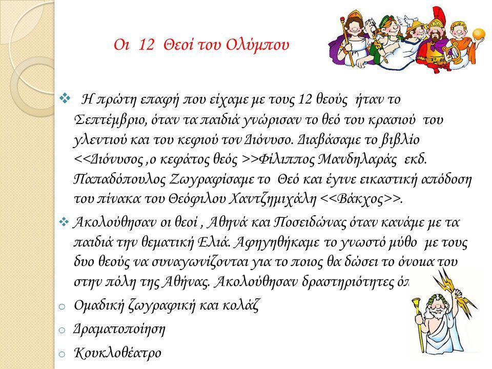 20/1/2016 Κοσμογονία-Θεογονία  Επίσημα την ενασχόληση μας με τους 12 θεούς την αρχίσαμε με την δημιουργία του Κόσμου και των 12 θεών μέσα από την ανάγνωση πολλών βιβλίων, βίντεο στο ιντερνέτ.