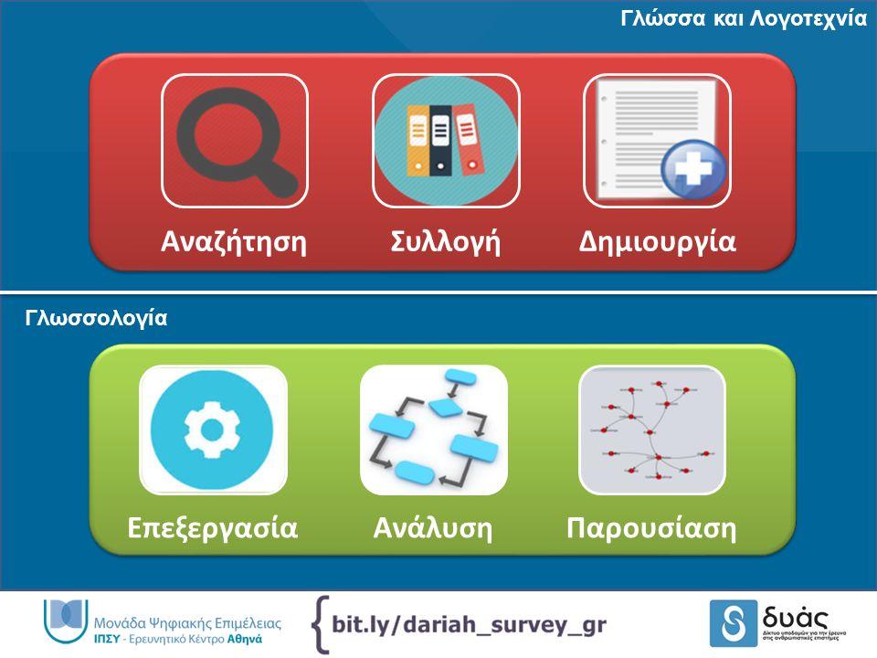 http://www.dyas-net.gr http://www.dcu.gr Digital Curation Unit @DigCurationUnit ΔΥΑΣ Δίκτυο Υποδομών για την Έρευνα στις Ανθρωπιστικές Επιστήμες @dyas_net