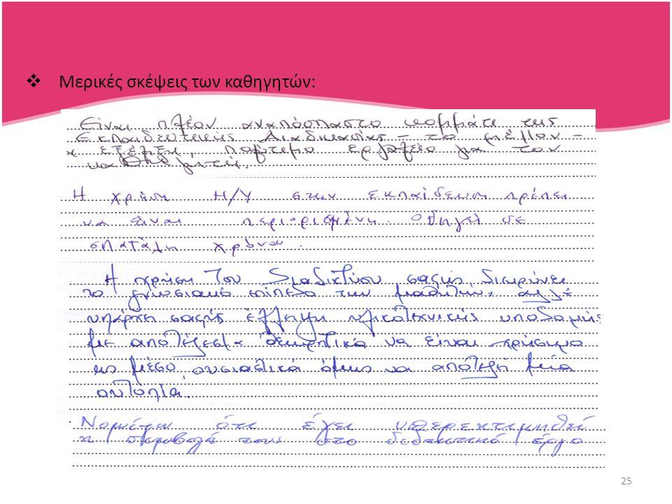26 Συμπεράσματα  Το πρώτο σκέλος της υπόθεσης μας φαίνεται να επιβεβαιώνεται, με τη χρήση των ΤΠΕ στην εκπαιδευτική διαδικασία να είναι περιορισμένη.