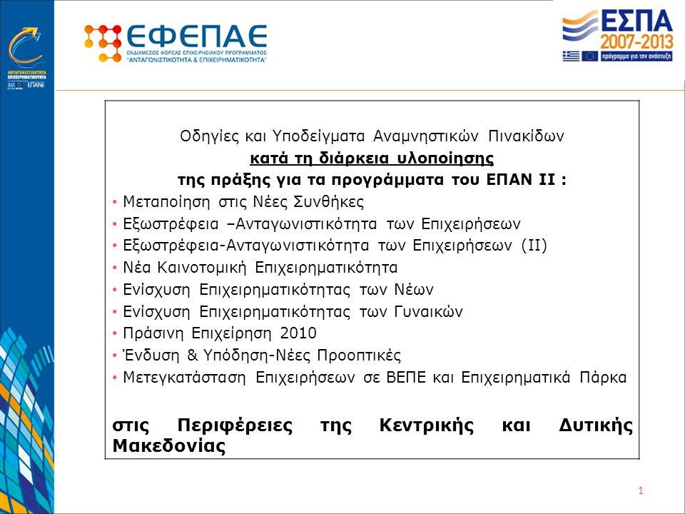 Η επιχείρηση ενισχύθηκε για τον εκσυγχρονισμό της στο πλαίσιο του Περιφερειακού Επιχειρησιακού Προγράμματος Mακεδονίας-Θράκης Με τη συγχρηματοδότηση της Ελλάδας και της Ευρωπαϊκής Ένωσης ποιότητα ζωής για όλους Ευρωπαϊκή Ένωση Ευρωπαϊκό Ταμείο Περιφερειακής Ανάπτυξης