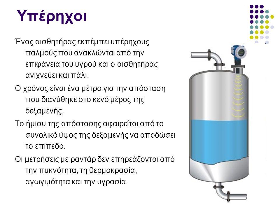 Διαφορικής πίεσης Η διαφορά της πίεσης ανάμεσα στα δύο σημεία, εξαρτάται από τη στάθμη του νερού.