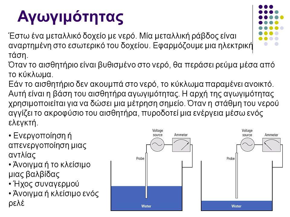 Χωρητικότητας Η αρχή λειτουργίας στηρίζεται στη μέτρηση της χωρητικότητας ενός πυκνωτή.
