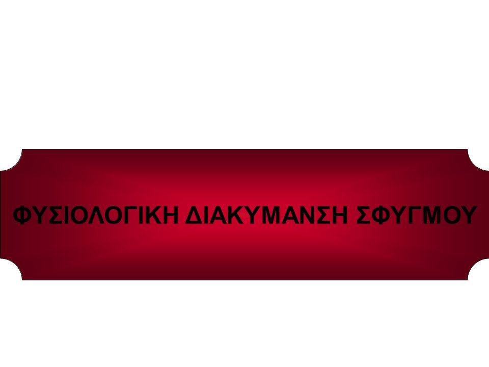 ΕΥΡΟΣ ΦΥΣΙΟΛΟΓΙΚΟΥ ΣΦΥΓΜΟΥ: 60-100΄ ΜΕΡΙΚΟΙ ΑΘΛΗΤΕΣ ΕΝΗΛΙΚΟΣ ΑΝΔΡΑΣ ΕΝΗΛΙΚΗ ΓΥΝΑΙΚΑ ΠΑΙΔΙ(5 ΕΤΩΝ) ΠΑΙΔΙ(1 ΕΤΟΥΣ) ΝΕΟΓΕΝΝΗΤΟ 45-60΄ 72΄ 76-78΄ 95΄ 110΄ 120-160΄