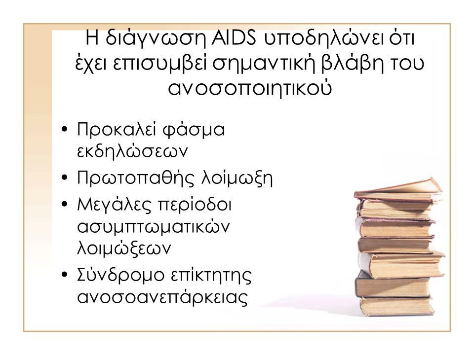 AIDS Αιτιολογία: –HIV-1 –HIV-2 Σημαντικό διεθνές πρόβλημα Το 2000 34,4 εκατομμύρια ασθενείς που ζουν με HIV
