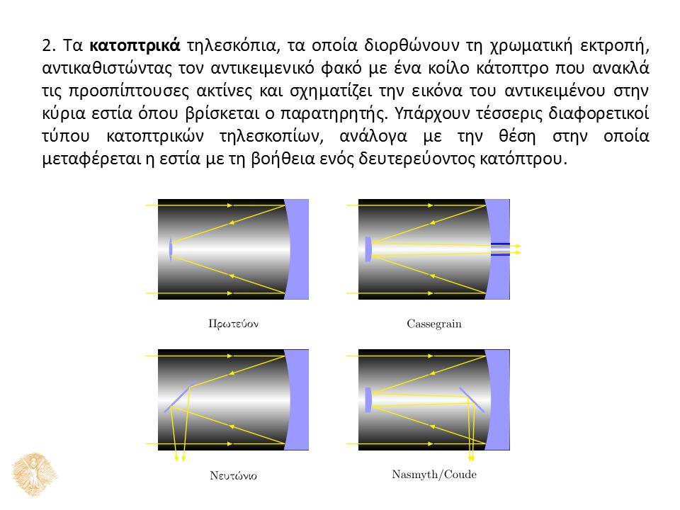 Η επιλογή του τηλεσκοπίου γίνεται ανάλογα με τη χρήση του τηλεσκοπίου.