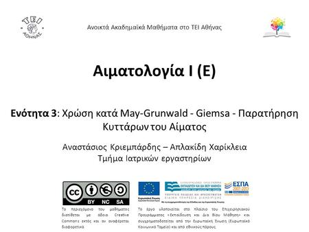 Χρώση May-Grunwald – Giemsa 1/4