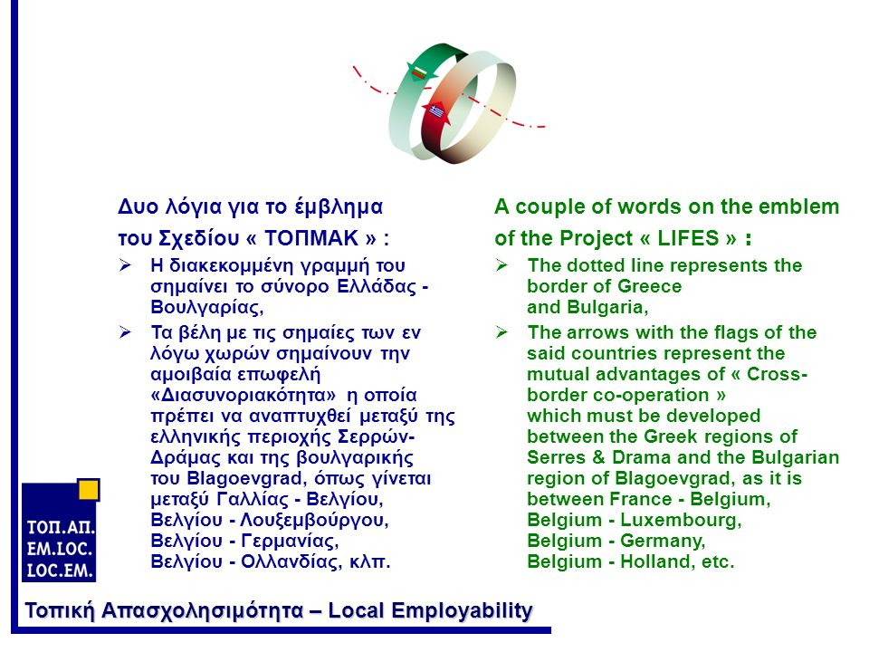 Τοπική Απασχολησιμότητα – Local Employability Η ΠΡΟΪΣΤΟΡΙΑ ΤΟΥ ΣΧΕΔΙΟΥ : Το συλλογικό Σχέδιο δεν είναι ουρανοκατέβατο.