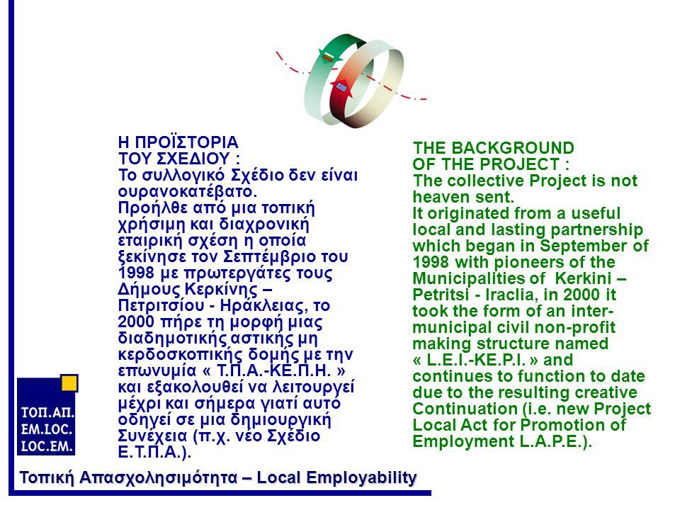 Τοπική Απασχολησιμότητα – Local Employability Γιατί; Why.