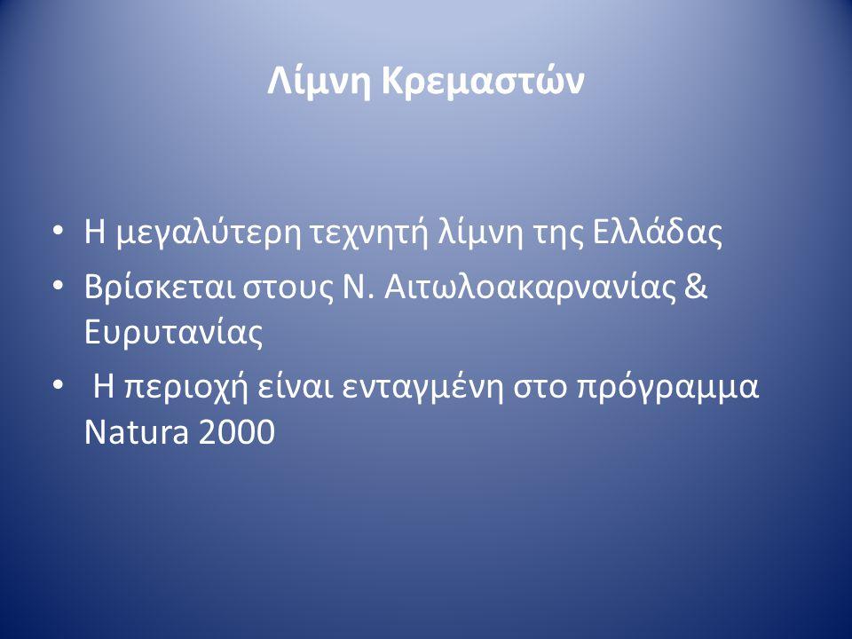 Λίμνη Μόρνου • Στόχος της κατασκευής της η ύδρευση της Αθήνας • Κατασκευάστηκε το 1980 στο Ν.