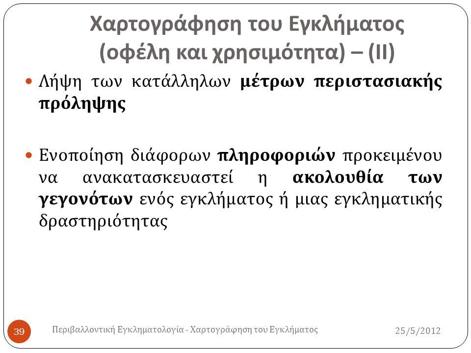 25/5/2012 Περιβαλλοντική Εγκληματολογία - Χαρτογράφηση του Εγκλήματος 40