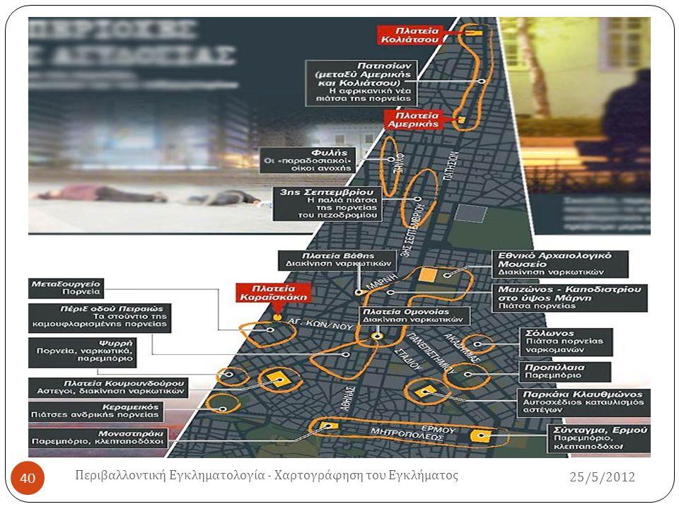25/5/2012 Περιβαλλοντική Εγκληματολογία - Χαρτογράφηση του Εγκλήματος 41