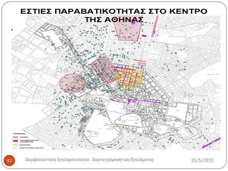 25/5/2012 Περιβαλλοντική Εγκληματολογία - Χαρτογράφηση του Εγκλήματος 43