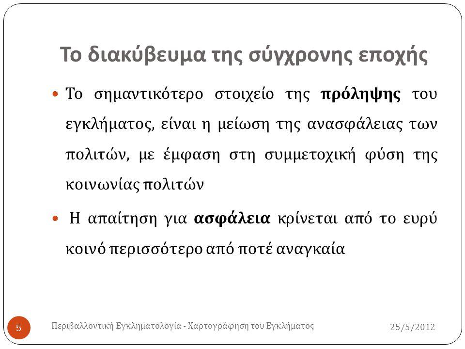 Ελλάδα – Ερευνητικά πορίσματα ( Ι ) Συσχέτιση και ερμηνεία της ανασφάλειας των πολιτών στη βάση των ατομικών και κοινωνικών χαρακτηριστικών ( π.