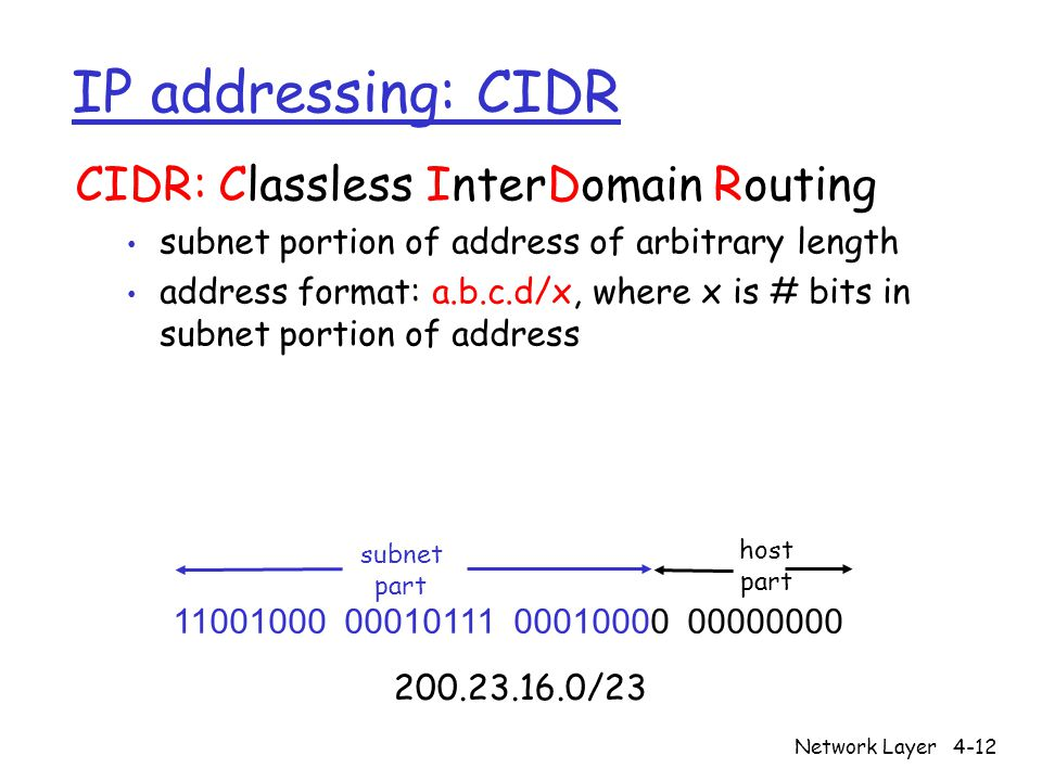 Network Layer4-13 IP addresses: how to get one.Q: How does a host get IP address.