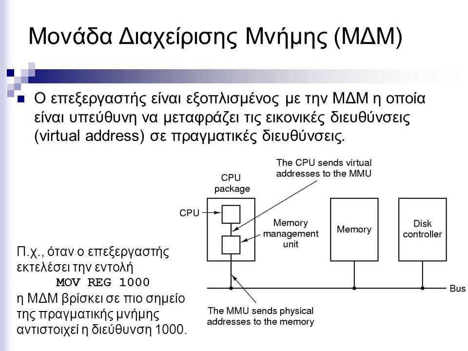 Εικονική Μνήμη  Όταν τρέχει κάποιο πρόγραμμα, είναι υποχρεωτικό να είναι ολόκληρο φορτωμένο στην κύρια μνήμη;  Όχι κατ' ανάγκη.