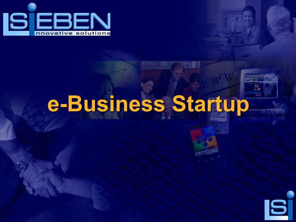 SiEBEN e-Business Startup Η απόλυτη λύση για το πέρασμα στο e-Business Modules  Ανάπτυξη web site στο internet.