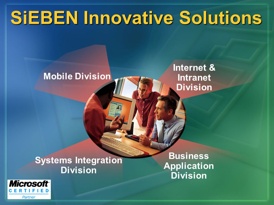 Mobile Division Systems Integration Division Internet Intranet Division Business Application Division