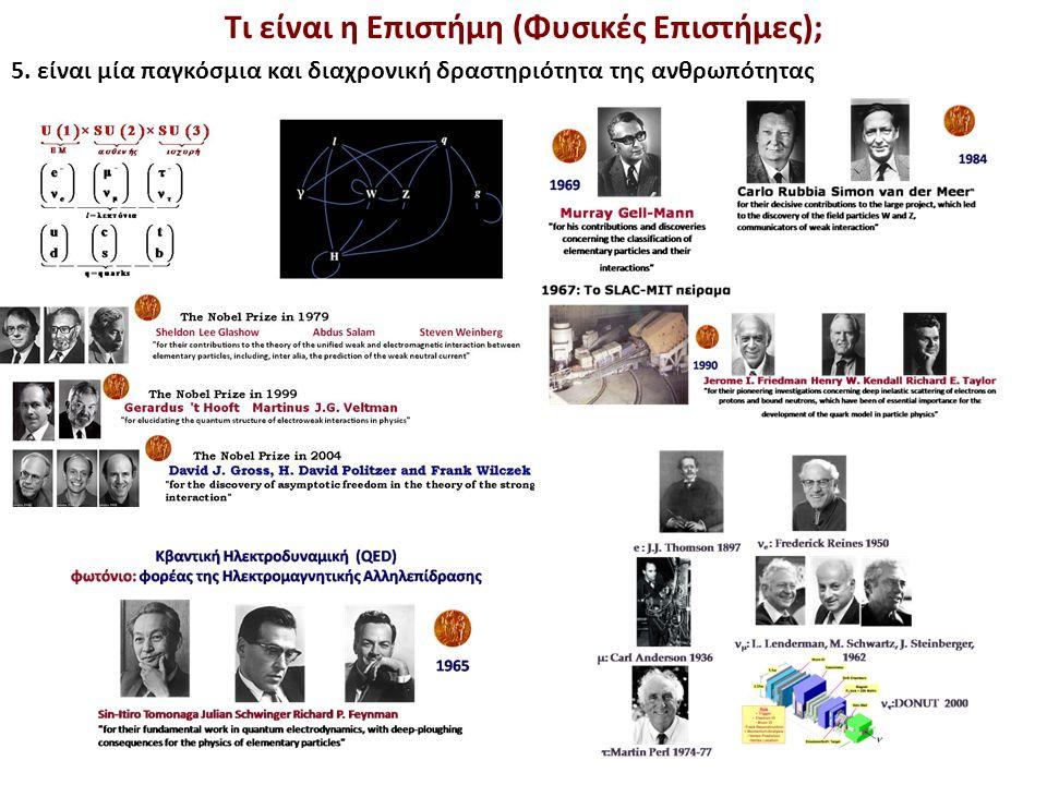 Τι είναι η Επιστήμη (Φυσικές Επιστήμες); 5.