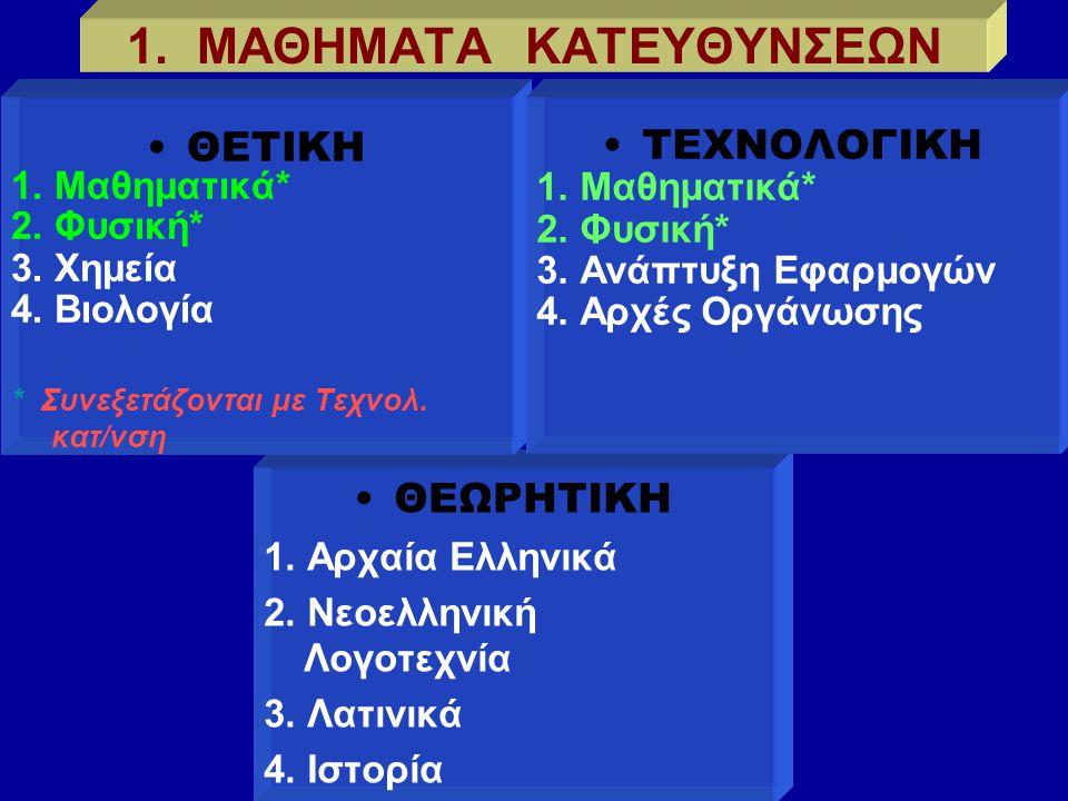  Όλα τα Τμήματα των Σχολών της Γ/βάθμιας Εκπ/σης έχουν καταταγεί σε 5 ομάδες, τα Επιστημονικά Πεδία.