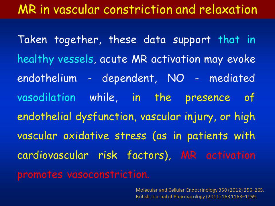 MR and Vascular Oxidative Stress