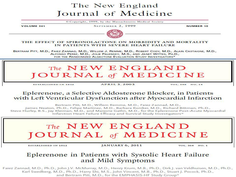 Curr Heart Fail Rep (2011) 8:7–13. Characteristics of studies with MR antagonists