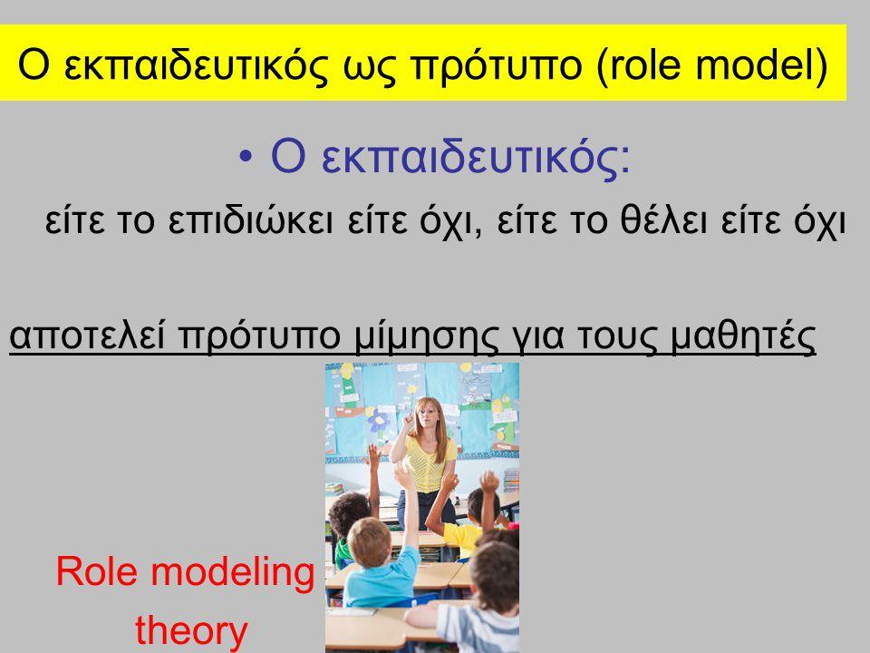 Ο εκπαιδευτικός ως πρότυπο (role model) Η προσωπικότητα του εκπαιδευτικού ασκεί άμεση και συσσωρευτική επίδραση στην καθημερινή παρουσία των μαθητών στη σχολική τάξη, επιδρώντας καταλυτικά στις μαθησιακές συνήθειες τους