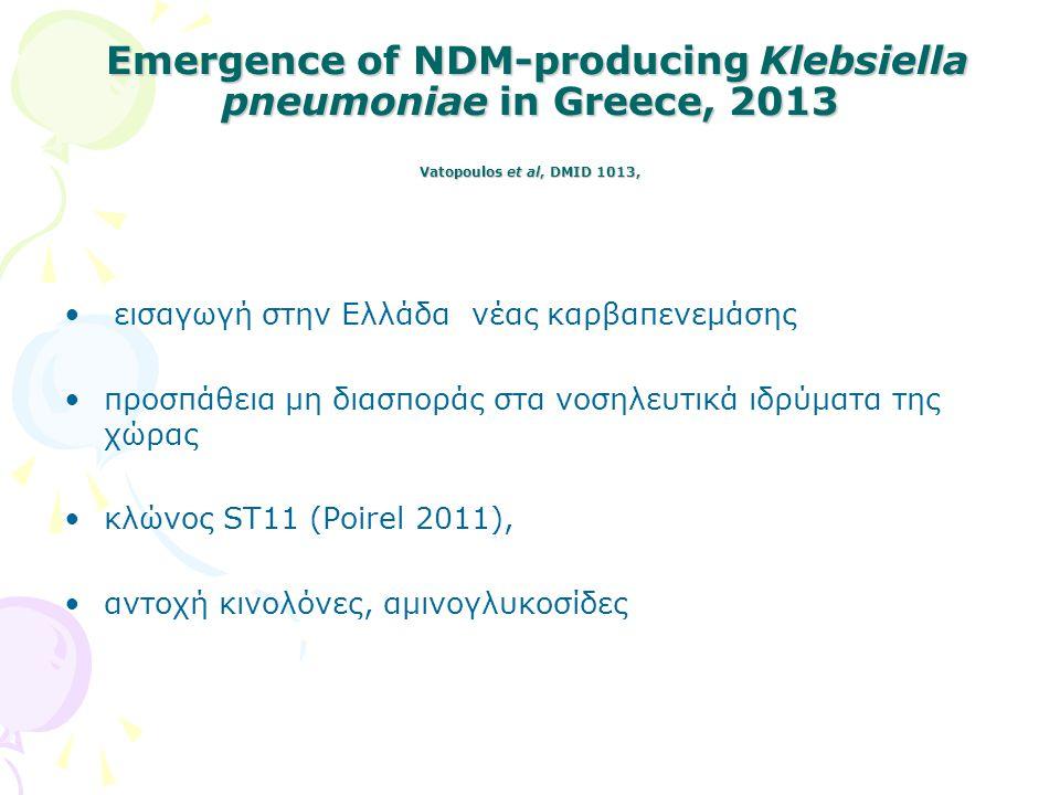 Συνεχής εξέλιξη Petinaki et al, BMC Infect Dis 2013 Oct 29;13:505.