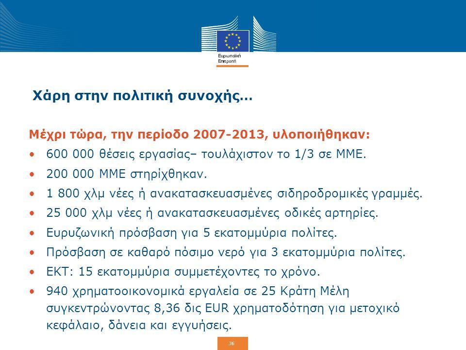 37 Πολιτική συνοχής της ΕΕ και Αλληλεγγύη Το ταμείο Αλληλεγγύης της Ευρωπαϊκής Ένωσης (ΤΑΕΕ) ιδρύθηκε το 2002 κατόπιν των σοβαρών πλημμυρών στην κεντρική Ευρώπη.