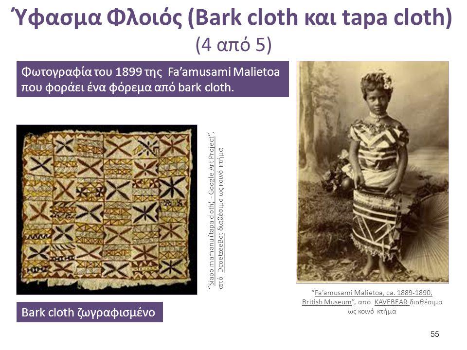 Ύφασμα Φλοιός (Bark cloth και tapa cloth) (5 από 5) Κορμός Broussonetia papyrifera που χρησιμοποιείται για την κατασκευή bark cloth.