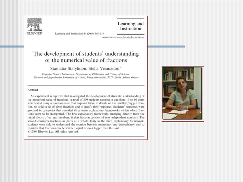 Οι εννοιολογικές δομές στα Μαθηματικά δεν θεωρητικές έννοιες Οι μαθηματικές έννοιες δεν είναι εμπειρικές, αλλά θεωρητικές έννοιες.