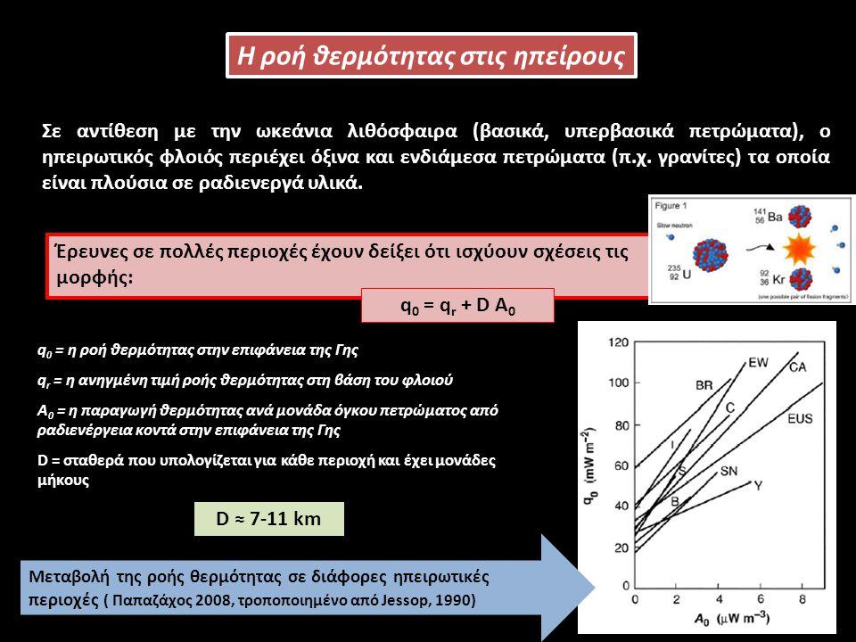 Σε αντίθεση με την ωκεάνια λιθόσφαιρα (βασικά, υπερβασικά πετρώματα), ο ηπειρωτικός φλοιός περιέχει όξινα και ενδιάμεσα πετρώματα (π.χ.