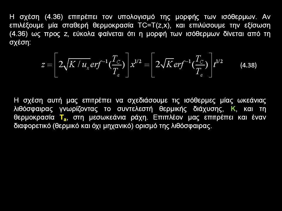 Η σχέση (4.36) επιτρέπει τον υπολογισμό της μορφής των ισόθερμων.