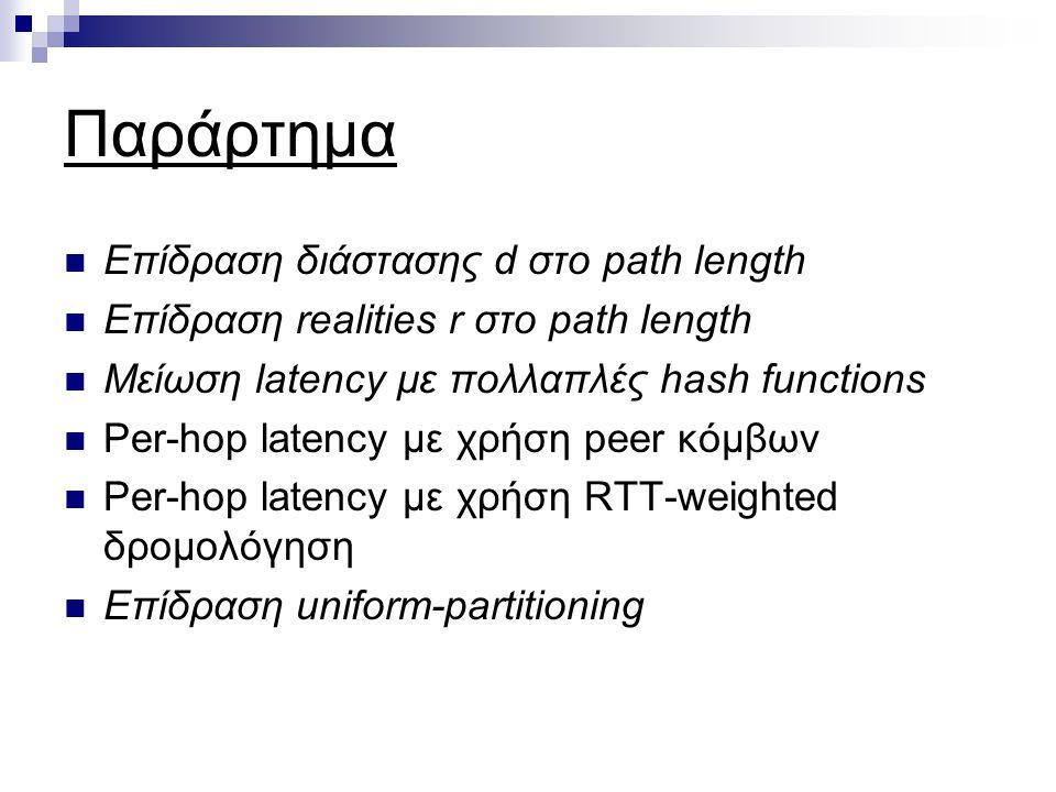 Επίδραση διάστασης d στο path length