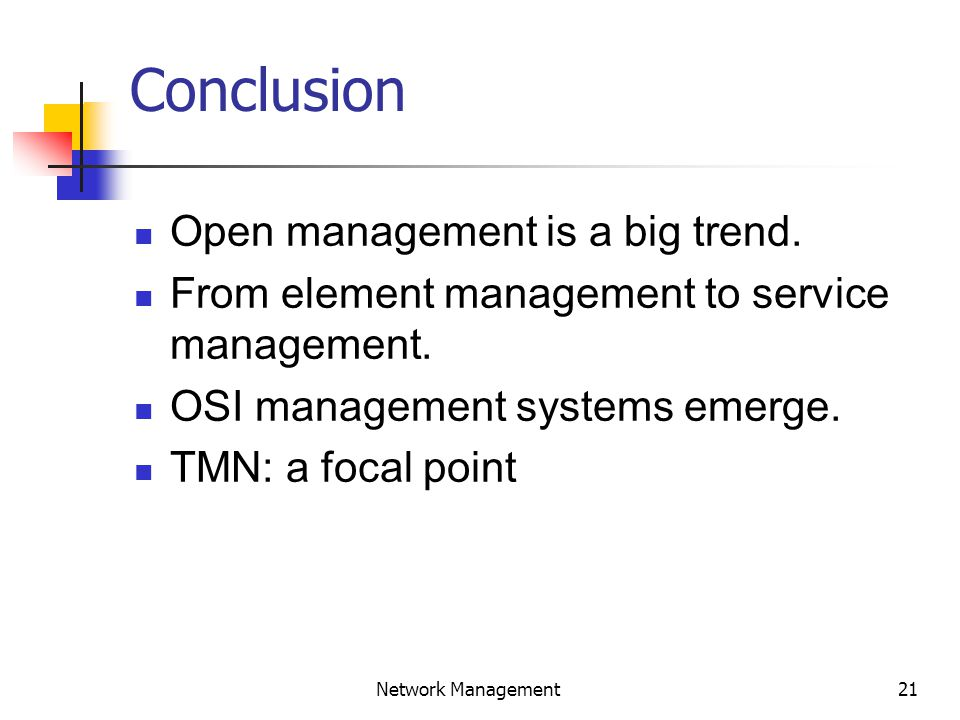 22 Network Management End of Fifth Lecture