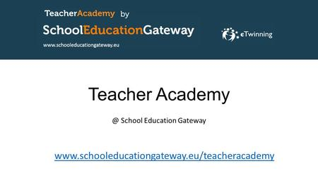 Teacher School Education Gateway
