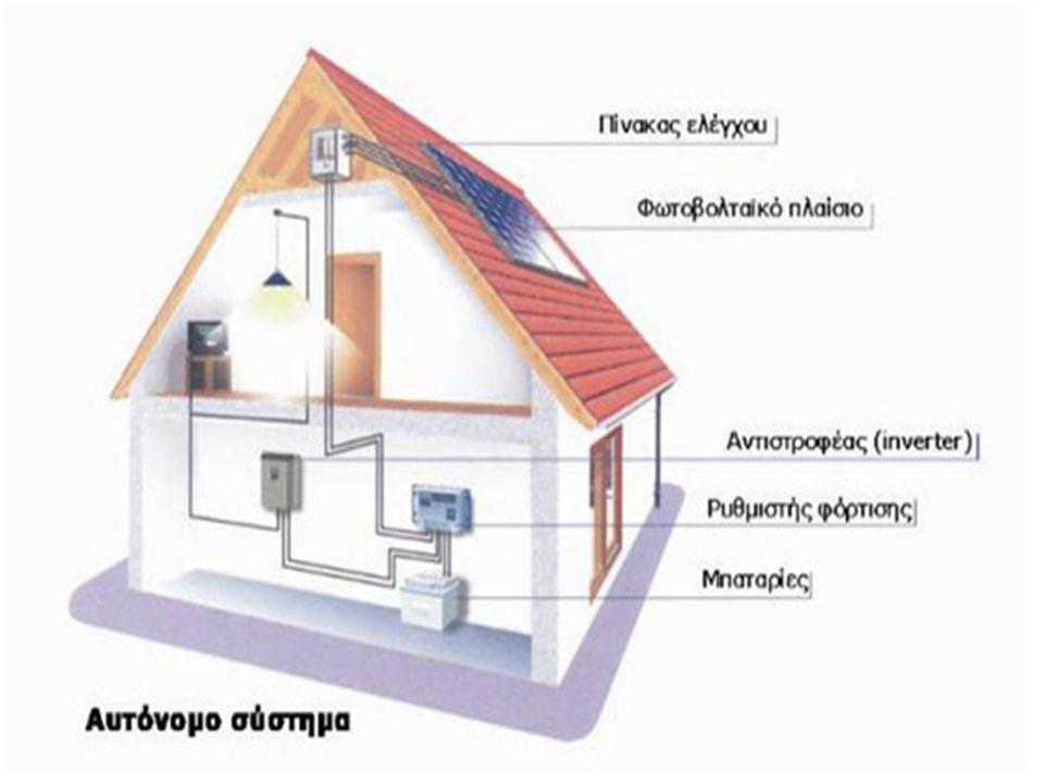 Φωτοβολταϊκά συστήματα με μπαταρίες Τα Φωτοβολταϊκά συστήματα με μπαταρίες είναι μία πολύ αξιόπιστη λύση για την ηλεκτροδότηση ενός χώρου ή μηχανήματος 24 ώρες το 24ωρο, με βροχή ή λιακάδα.
