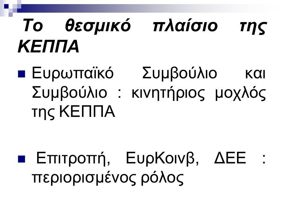 Ύπατος Εκπρόσωπος της Ένωσης διπλός ρόλος : α.ΥπΕκ της ΚΕΠΠΑ (Συμβούλιο) β.