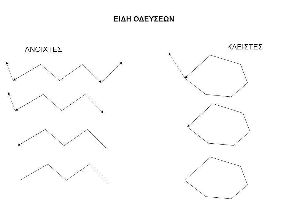 ΕΠΙΛΥΣΗ (υπολογισμός) πολυγωνικής όδευσης Η διαδικασία υπολογισμού και διόρθωσης των συντεταγμένων στις κορυφές της πολυγωνικής όδευσης.
