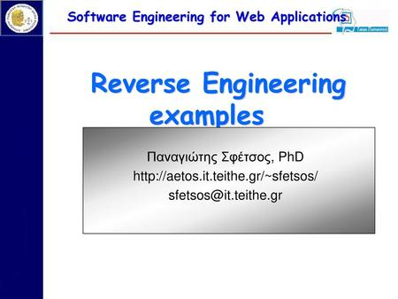 Software Engineering for Web Applications