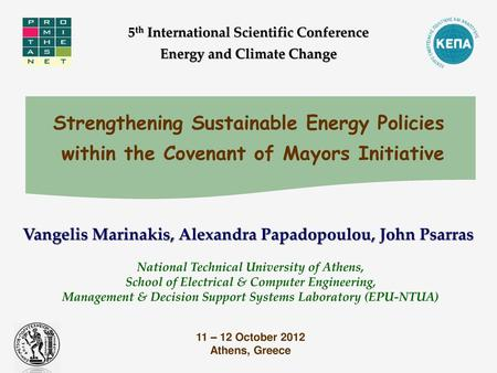 5th International Scientific Conference Energy and Climate Change