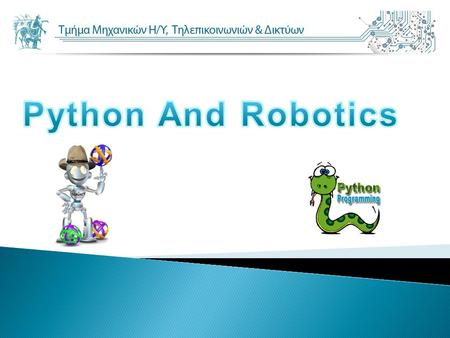 Python And Robotics.