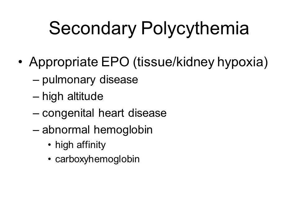 Secondary Polycythemia