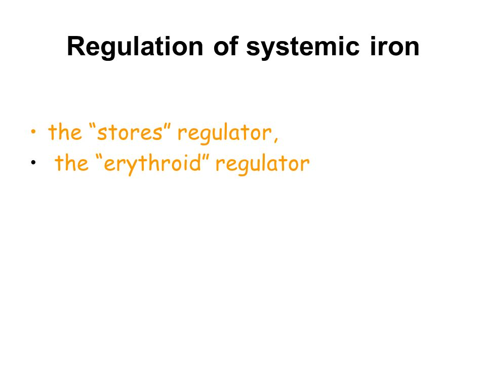 Regulation of systemic iron