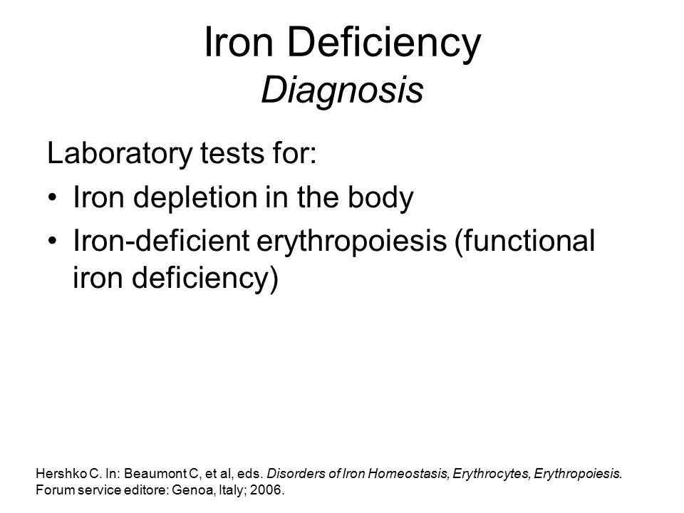 Iron Deficiency Diagnosis