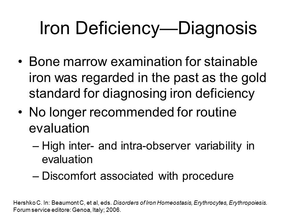 Iron Deficiency—Diagnosis