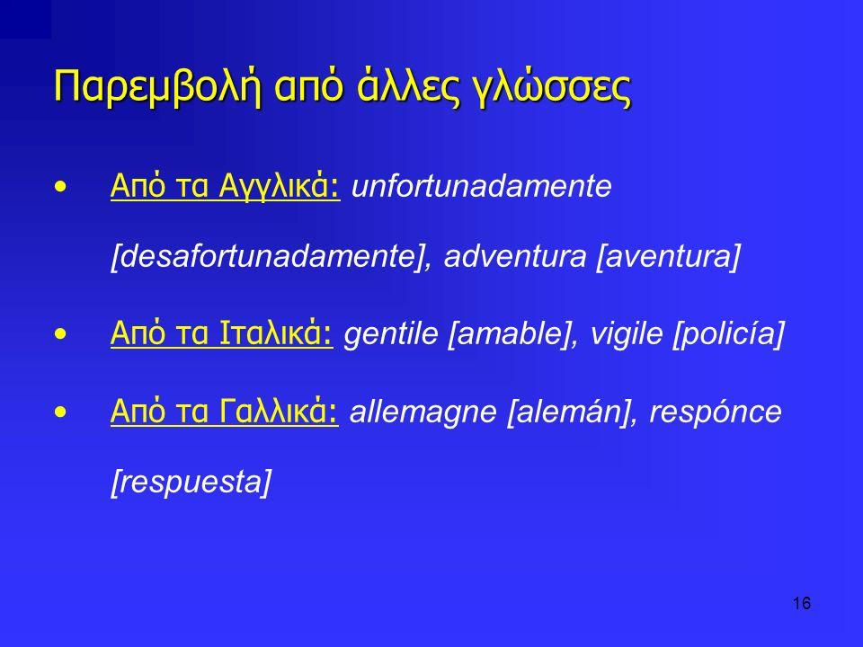 Παρεμβολή από άλλες γλώσσες
