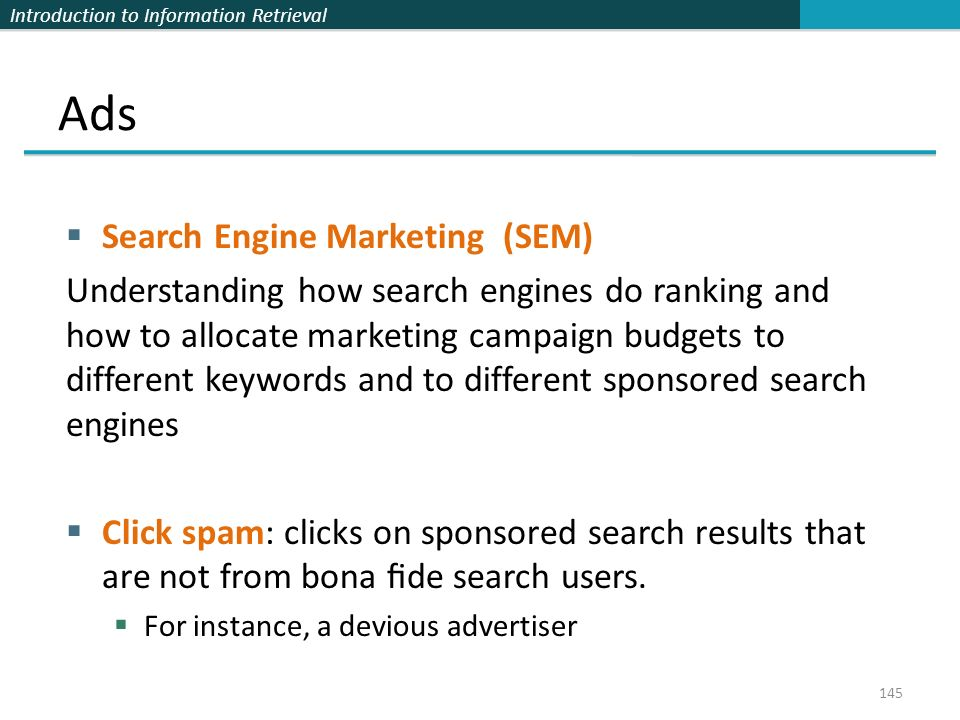 Ads Search Engine Marketing (SEM)