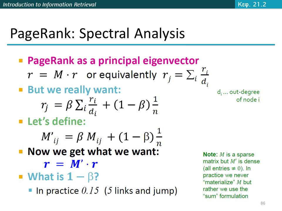 PageRank: Spectral Analysis